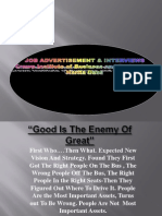 Interviews, ads, agencies, sales, media,