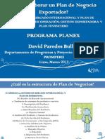 Elaboracion de Plan de Negocios Internacional 2