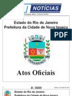diario oficial de nova iguaçu . 22 de junho de 2013