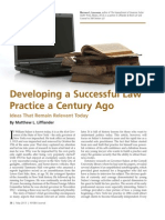 Developing a Successful Law Practice