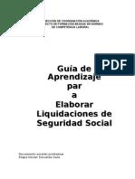 Guia de Aprendisaje Para Liquidacion Del Seguro Social