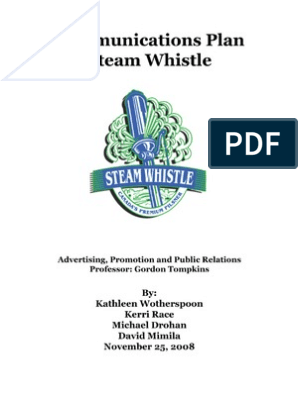 Steam Whistle Excerpt | Brand | Target Audience