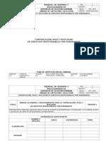 Manual Honorarios Profesionales Corporación de Servicios GDC