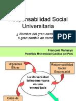 Responsabilidad Social Universitaria PPT Vallaeys, F.