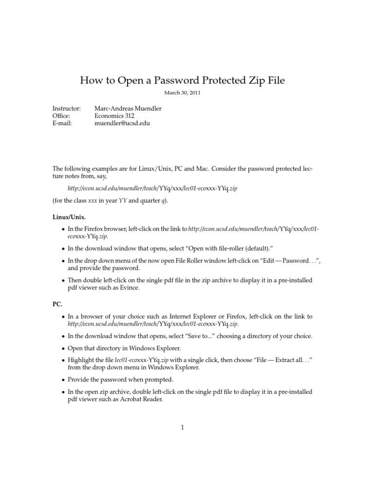 How To Unzip A Password Protected Zip File In Unix How to