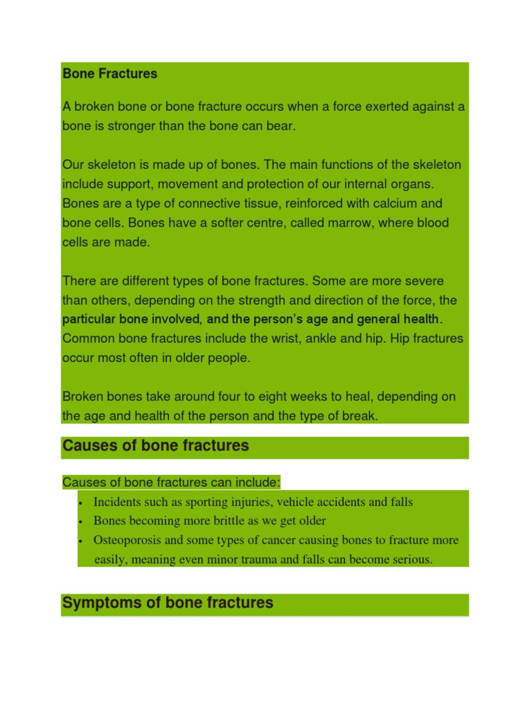 Bone Fracturescx Bone Skeletal System