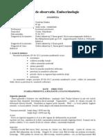 Foaie de Observatie-Endocrinologie