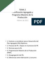 TEMA 2.Planificacion Agregada y PMP