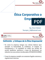 Etica Corporativa o Empresarial