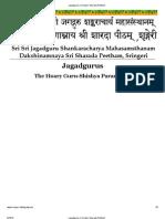 Jagadgurus _ Sringeri Sharada Peetham