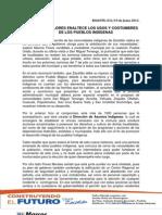 MARCOS FLORES ENALTECE LOS USOS Y COSTUMBRES DE LOS PUEBLOS INDÍGENAS 10-06-2013