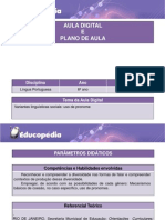 Variantes Linguisticas Sociais - Uso de Pronome