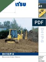 Bulldozer D41 Komatsu