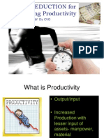 Cost Reduction for Enhanced Productivity