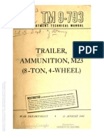 Tm 9-793 M23 AMMUNITION TRAILER