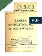 Tm 9-793 M23 AMMUNITION TRAILER