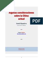 Algunas Consideraciones Sobre La China Actual