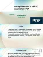 Simulation and Implementation of a BPSK Modulator on FPGA