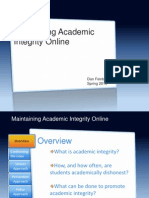 Maintaining Academic Integrity Online