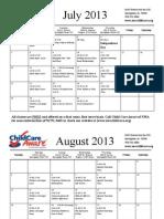 class calendar july- dec  2013-3 fixed