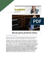 Becas Para Ponerse Tetas. Paloma Cervilla