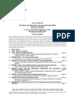 Executive Committee Agenda   September 2011