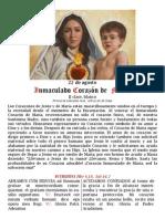 Inmaculado Corazon de Maria. 22 de agosto y misas votivas. Folleto PDF bilingüe