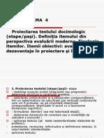 T4 Proiectarea Testului Docimologic (Etape