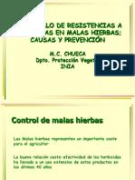 Resistencia de Las Plnatas a Los Herbicidas