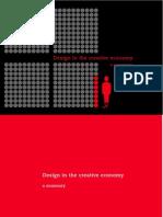 Design in the Creative Economy a Summary