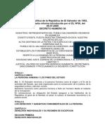 Constitucion El Salvador -Reformas Hasta El 2000