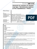NBR 14125 - Tratamento de Superficie Do Aluminio e Suas Ligas - Revestimento Organico - Pintura