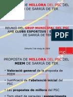 Proposta millores PSC MIEM Sarrià de Ter maig'09