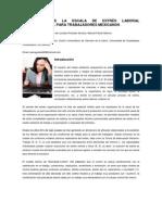 ADAPTACIÓN DE LA ESCALA DE ESTRÉS LABORAL ORGANIZACIONAL PARA TRABAJADORES MEXICANOS