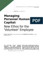 Managing Personal Human Capital
