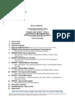 TAG Agenda | April 2012