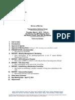 TAG Agenda | March 2012