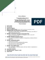 TAG Agenda | September 2012