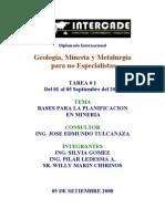 15_bases Para La Planificacion en Mineria
