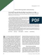 Ventricular Volume Following Third Ventriculostomy