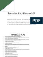 Temarios Bachillerato SEP