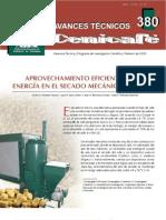 Aprovechamiento eficiente de la energía en el secado mecánico del café (cenicafé)