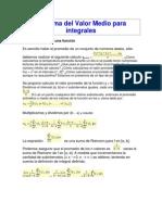 Teorema Del Valor Medio Para Integrales