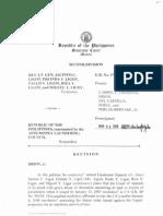 Ret. Lt. Gen. Jacinto C. Ligot, et al. Vs. Republic of the Philippines represented by the Anti-Money Laundering Council   Frozen assets in Civil forfeiture cases.pdf