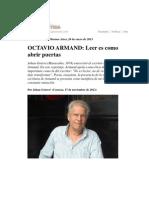 Leer Es Como Abrir Puertas Octavio Armand