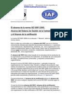El Alcance de La Norma ISO 9001 2000