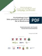 Archipielago Juan Fernandez Sitio Prioritario Para La Conservacion de La Biodiversidad Global Sistematizacion Del Estado Actual Del Conocimiento