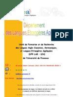 Licence LEA Aix en Provence 2008 2009