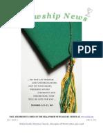 June 25, 2013 Fellowship News