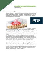 20-06-12 Ciudadania-espress SSO Reprueba en Salud Sexual en Adolescentes